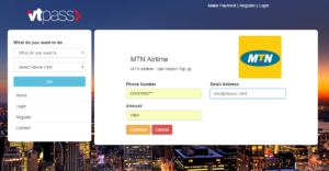Make payment online for Airtime