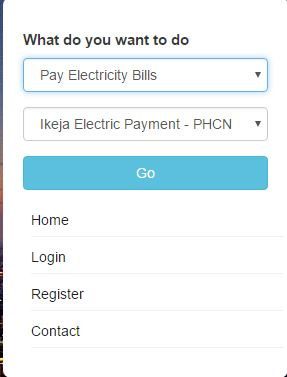 Electricity company payment online