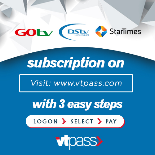 renew your TV subscription on VTpass