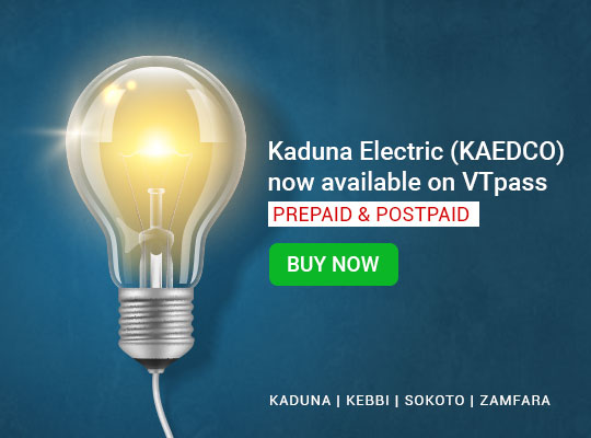 KAEDCO (Kaduna Electric) Now Available on VTpass!