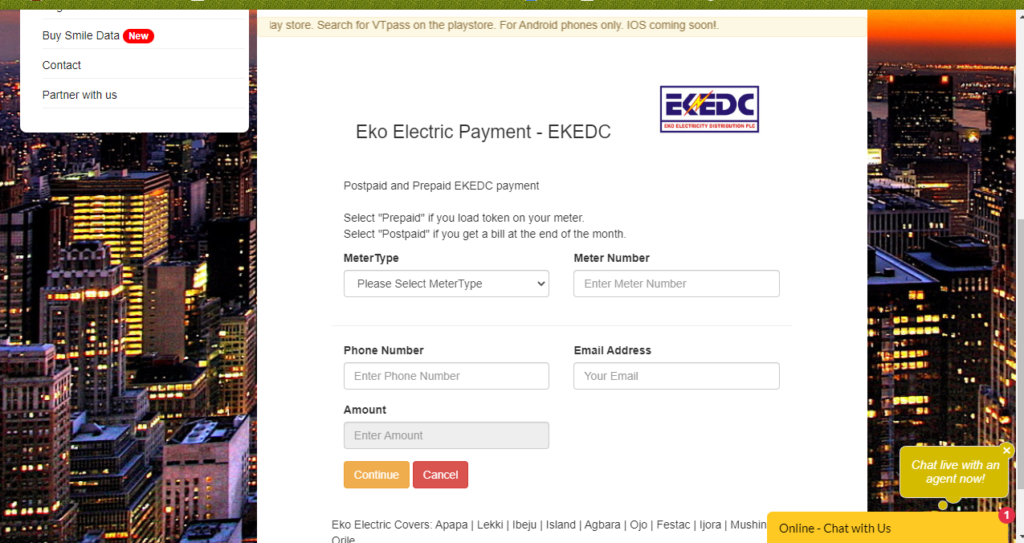 pay EKEDC bill